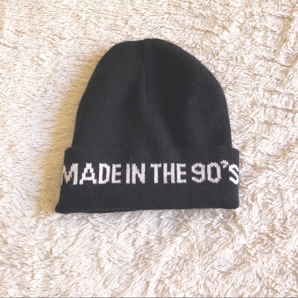 Rue21 Made in the 90s Black Graphic Beanie 13b80c8cd09c